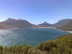View from Chapman's Peak Drive to Hout Bay