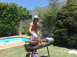 Son#1 in charge of the Christmas braai